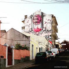 How & Nosm street art Lisbon || A comprehensive street art guide of Lisbon, Portugal - Read it here: http://www.blocal-travel.com/street-art/lisbon-street-art-guide/