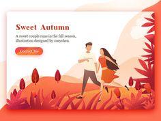 Autumn illustration design