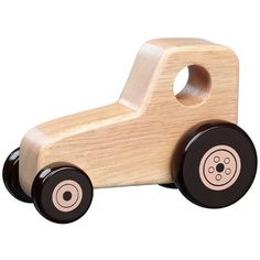 Chunky wooden push along tractor
