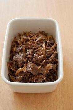 牛肉とごぼうの甘辛炒め