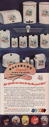 1951 Ransburg Canisters by American Vintage Home, via Flickr