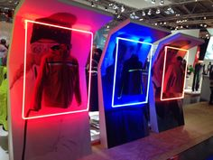 #ispo #munich #fashion #function Exhibition Stand Design, Exhibition Display, Display Design, Booth Design, Stage Design, Event Design, Clothing Store Design, Visual Merchandising Displays, Window Design