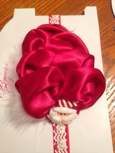 A personal favorite from my Etsy shop https://www.etsy.com/listing/256426331/red-santa-headband-red-bubble-headband