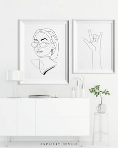 Printable 90s Inspired Drawing, Female Face Lines Illustration, One Line Girl Sketch, Glasses Fashion Woman Print, Minimalist Style Wall Art. INSTANT DOWNLOAD This listing is for a DIGITAL FILE of this artwork. No physical item will be sent. You can print the file at home, at a local