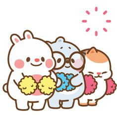 Cheer Up Bunny Sticker by Tonton Friends for iOS & Android Happy Bday Gif, Cute Happy Birthday, Find My Friends, Friends Gif, Cute Love Gif, Cute Love Pictures, Cute Cartoon Images, Cartoon Gifs, Animated Emojis