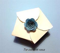 Tre Confetti Rosa - Bomboniere handmade: Scatoline per momenti di festa