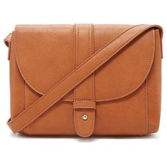 Forever 21 Faux Leather Crossbody ($16) ❤ liked on Polyvore featuring bags, handbags, shoulder bags, faux leather shoulder bag, forever 21 handbags, brown cross body purse, structured handbag and flap crossbody