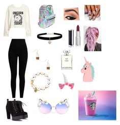 """""""unicorn"""" by emmakat007 ❤ liked on Polyvore featuring H&M, Pepper & Mayne, Betsey Johnson, Givenchy, Chanel and ASOS"""