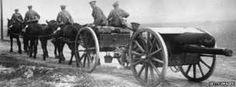 Horses pulling artillery in the Somme