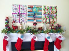 Fun Holiday Mantle