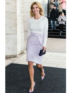75 Classy and Casual Business Outfits Ideas with High Heels Shoes - Aksahin Jewelry Ivanka Trump Outfits, Ivanka Trump Style, Men's Fashion, Covet Fashion, Fashion Week, Business Casual Outfits, Office Outfits, Office Wear, Business Wear