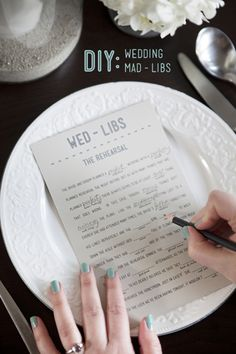 Download And Print Your Own Free Wedding Mad-libs!