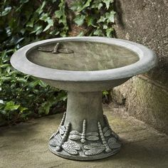Campania International, Inc Dragonfly Small Birdbath Finish: Copper Bronze