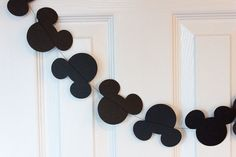 Mickey Mouse Paper Garland, Minnie Mouse Paper Garland for birthday, baby shower, nursery