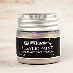 Prima - Art Alchemy - Acrylic Paint-Opal Magic Violet-Gold by Finnabair