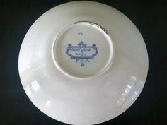 Pountney & Allies (Bristol) c1820 Hollyhock Saucer marked P&A B