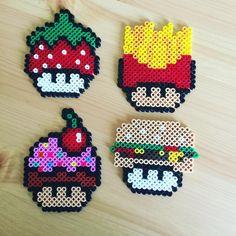 Mushrooms perler beads by kallemus