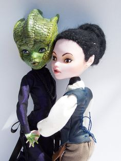 OOAK Monster High Custom Art Doll Set: Madame Vastra & Jenny Flint on Etsy, $378.67
