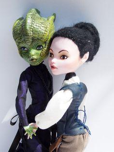 OOAK Monster High Custom Art Doll Set: Madame Vastra & Jenny Flint on Etsy, $378.67