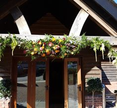 A beautiful arch at Sandhole Oak Barn #weddingarch #wedding2017 #weddingflowers #parsleyandsage