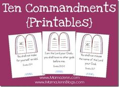 You can use the Ten Commandment printables to post on the wall or include in a notebook as a visual reminder of the verses.