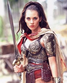 "Adrienne Wilkinson, ""Xena: Warrior Princess"", 2000 #sword #armor"