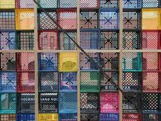 Furniture Fix, Crate Furniture, Villa Mix, Recycling Storage, Plastic Crates, Milk Crates, Exhibition Booth Design, Urban Architecture, Stage Decorations
