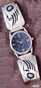 Navajo Hand Crafted Ladies - men Watches - just click on picture below ...