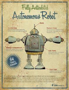 °005 \ Retro robots for nursery walls