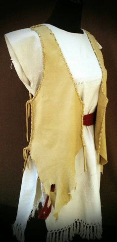 Buckskin Ceremonial Vest by SpiritMedicines on Etsy