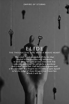 Elide...... Where have you been for this entire series?