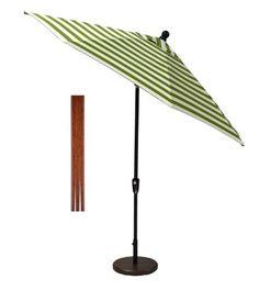 11 ft. Collar Tilt Umbrella in Sunbrella Maxim Cilantro Green Stripe (Multiple Finishes Available) Cushion Connection http://www.amazon.com/dp/B00JV3P41C/ref=cm_sw_r_pi_dp_yx2dvb1SZGG58