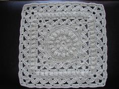 """Ravelry: Crown Jewels - 12"""" square pattern by Melinda Miller  Free Square pattern on Ravelry"""