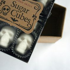 Absinthe sugar cubes. Sugar Cube Skulls the original  box of nine skulls by dembones, $9.00