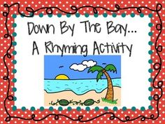 """Silly Rhyming FREEBIE!  Here's a fun activity to reinforce rhyming words, while students are able to be creative and silly!  This is sure way to get your class laughing!  Before doing this activity, make sure you play """"Down by the Bay"""" for your students several times.  Once they get the hang of it, students will use the animal cards to make a silly rhyme, creating new verses for the song!"""