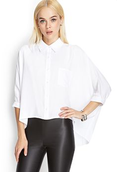Boxy High-Low Shirt | FOREVER21 - 2000137814