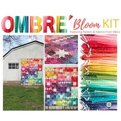 In stock and ready to ship - this charming quilt kit has us seeing stars - Ombré Carnival pattern is included in the kit which includes fabrics designed by Vanessa Christenson for V&Co for Moda Fabrics. Tap the link in our bio for more info -> Cushion Pillow, Pillows, Fabric Patterns, Fabric Design, Carnival, Quilting, Bloom, Fabrics, Kit