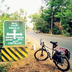 Approaching Panjim by bicycle bikepacking/cycle touring through India... via…
