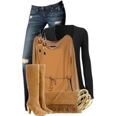 Falling for Fringe, created by colierollers on Polyvore