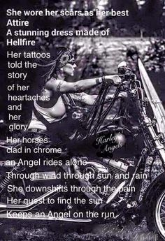 Biker Quotes, Motorcycle Quotes, Girl Motorcycle, Harley Davidson, Biker Chick, Biker Girl, Lady Biker, Chicks On Bikes, Biker Love