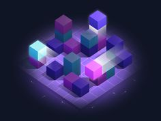 Resource Management designed by Alex S. Connect with them on Dribbble; Isometric Drawing, Isometric Design, 3d Data Visualization, Resource Management, Community Manager, Game Design, Art Inspo, Coloring Books, Blockchain