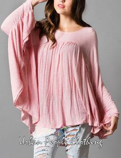 f9b1e0d08d22c I M A DREAMER Pink Bohemian-cool Blouse Tunic Top Boho Chic Trendy Large   UrbanPeopleClothing  KnitTop  Casual