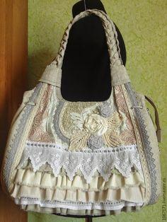 """Купить """" Бохо - шик """" - бежевый, льняная сумка, бохо стиль, классный подарок"""