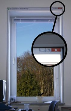 """Geek window - but wouldn't it be great if you could minimize your windows... or move, or resize, or """"full wall"""", or change the background or other properties, or...."""