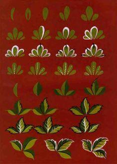 городецкая роспись как рисовать цветы - Поиск в Google