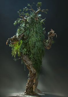 The amazing digital art - Treebeard by Even Amundsen Tree Monster, Plant Monster, Monster Art, Forest Creatures, Magical Creatures, Fantasy Creatures, Fantasy Rpg, Fantasy Artwork, Dark Fantasy