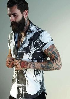 #boy #man #tattoo #beard