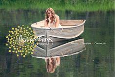 female senior portraits, girls, pets, senior portrait poses, boat, water