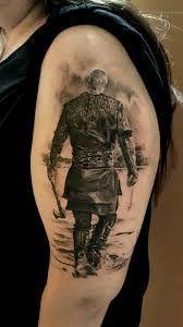 Ragnar by Andy Hyde Ragnar Lothbrok, Love Tattoos, Black Tattoos, Body Art Tattoos, Norse Tattoo, Viking Tattoos, Yogi Tattoo, Leg Sleeve Tattoo, Warrior Tattoos