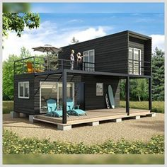 Metal container house plans and shipping container homes house plans. Modern Tiny House, Tiny House Cabin, Small House Design, Tiny House Plans, Modern House Design, Small Contemporary House Plans, Tiny House Living, Shipping Container Home Designs, Shipping Containers